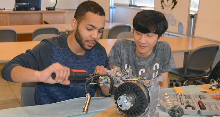 Engineering students in the classroom