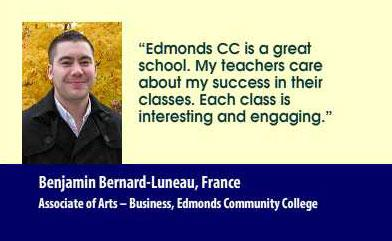 Benjamin Bernard-Luneau, France Associate of Arts – Business, Edmonds Community College