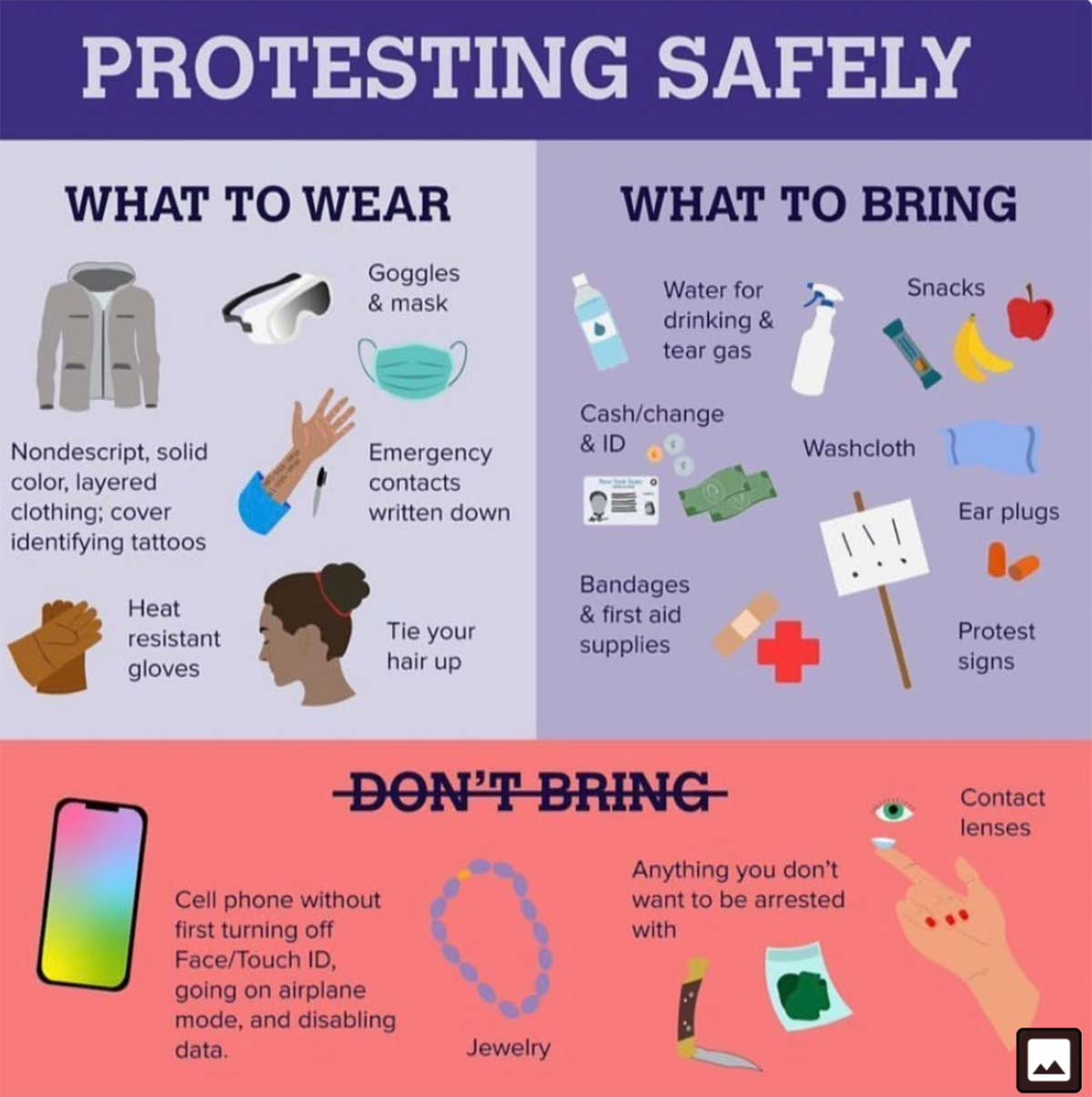Protesting safety tips