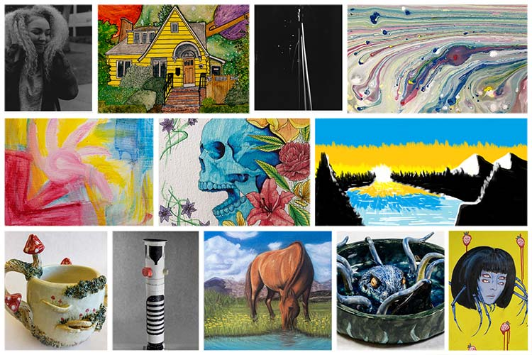 2020 Student Art Show collage