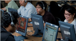 ESL students in the computer lab