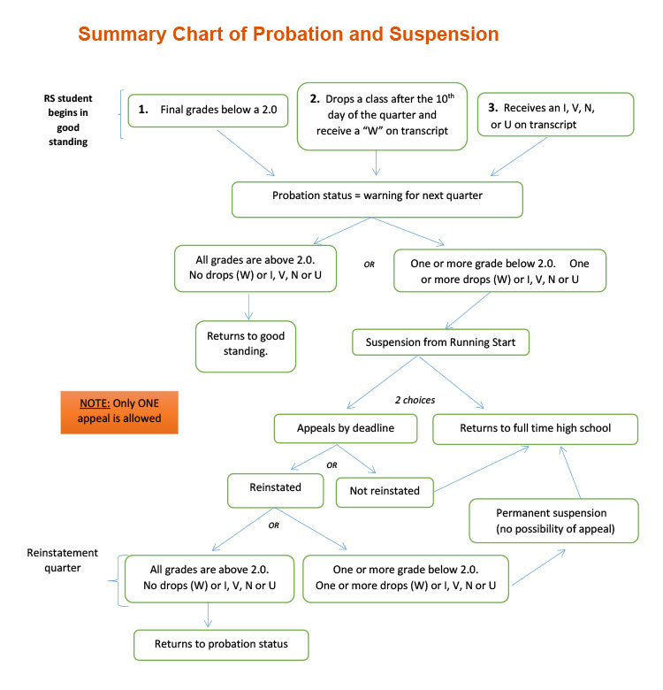 Probation and suspension summary chart