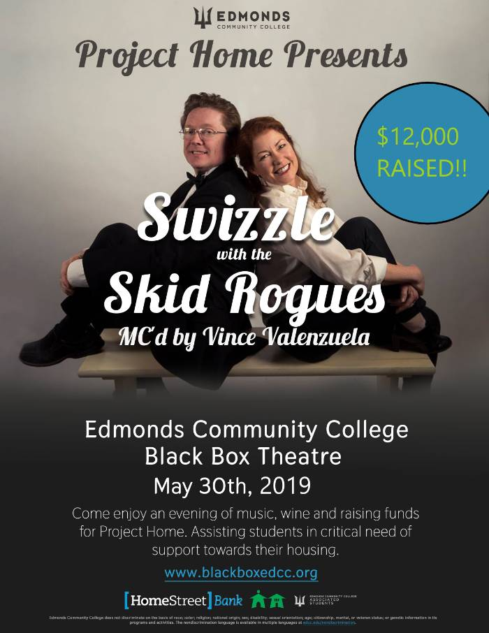 Project Home Presents Swizzle with the Skid Rogues. fundraiser held May 30th, 2019