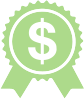money and award ribbon icon