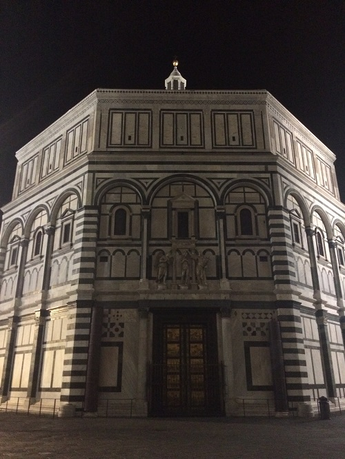 Building at night in Florence