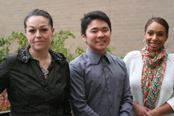 Nicole Ryan (left), Spencer Lestiadi, and Veaunna Felton