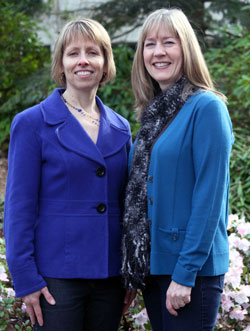 Kathleen Murphy, left, and Beth O'Donnell