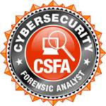 CyberSecurity Forensic Analyst certification logo