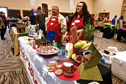 Vendor table at the Celebration of Food Festival