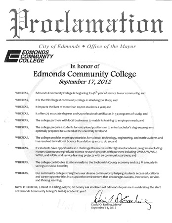 City of Edmonds Proclamation