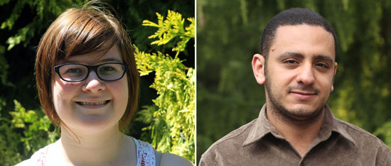 Janine Frizzell, left, and Samer Kamel