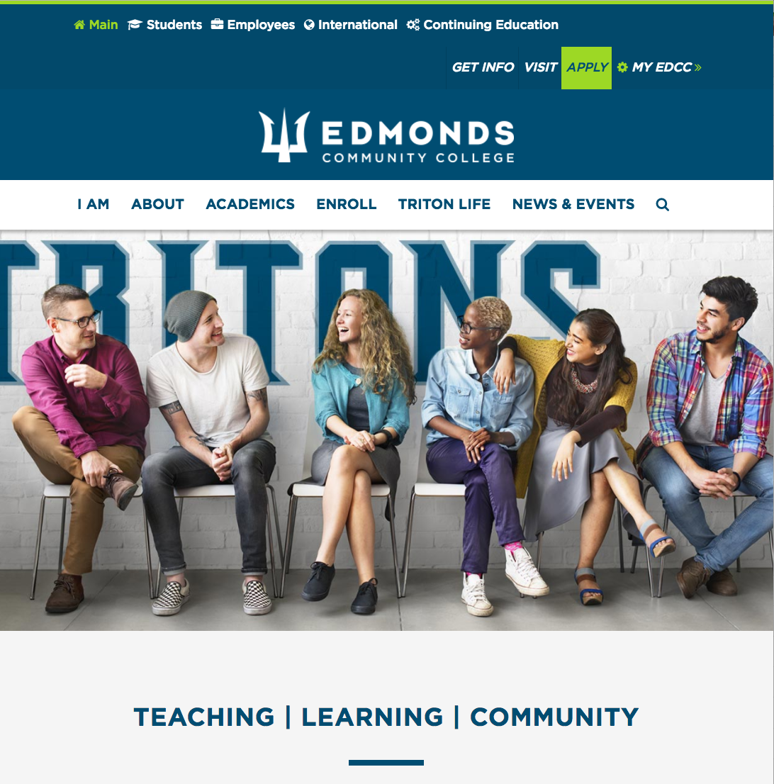 Edmonds CC web site