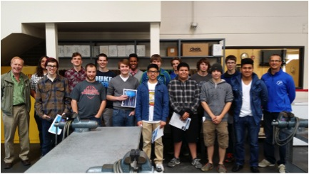Northshore and Issaquah school district students in the Northshore School District Composites Engineering and Manufacturing program